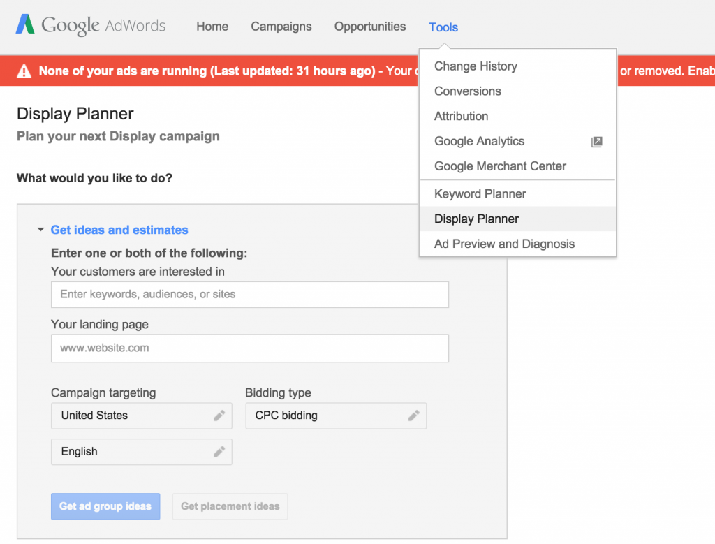 how to get into my adwords account